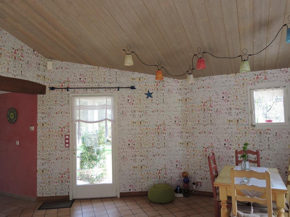 Décoration intérieure papier peint tapisserie Salle à manger - Atelier Pro Peinture Secteur Fontenay-le-Comte