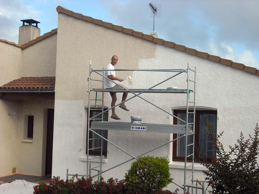 Peintre en bâtiment - façade extérieure Secteur Fontenay-le-Comte Atelier Pro Peinture