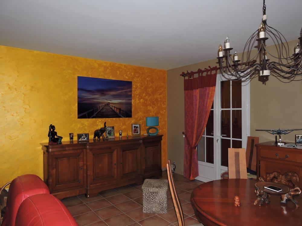 Salon Chaux brossee KALAHARI Peintre chambre Secteur Fontenay-le-Comte Atelier Pro Peinture