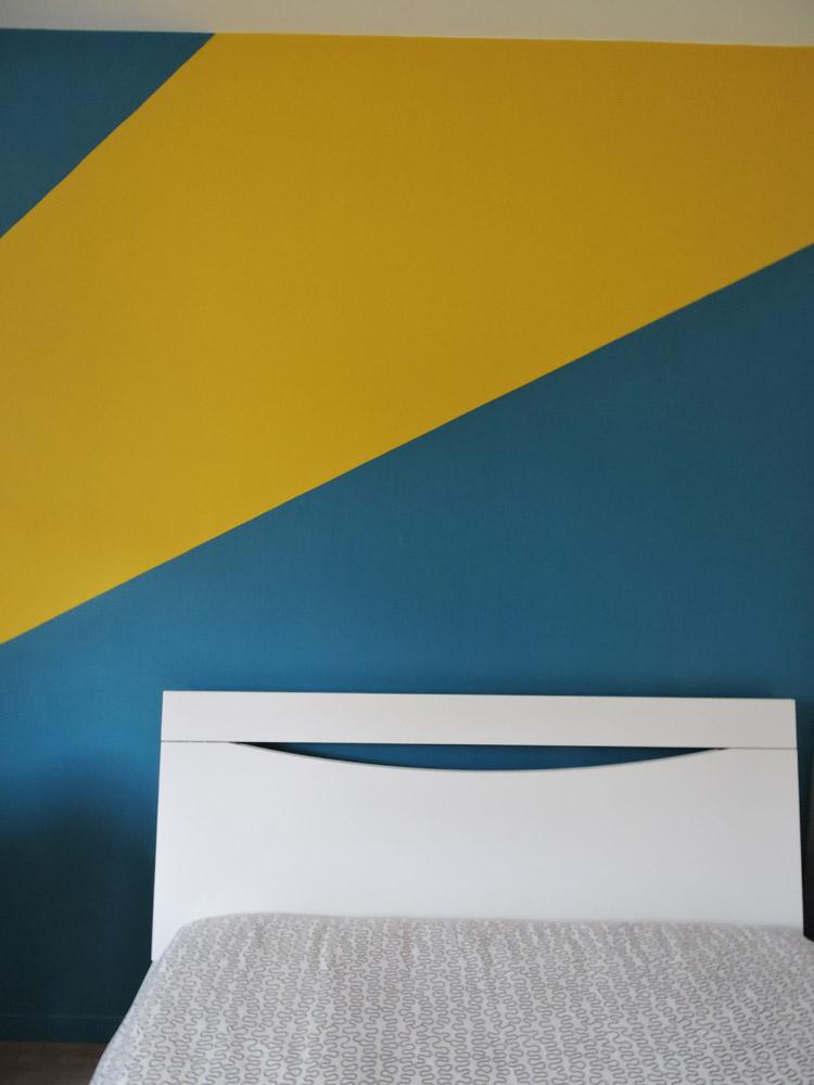 2 couleurs peinture mur chambre - Atelier Pro Peinture à Pouillé