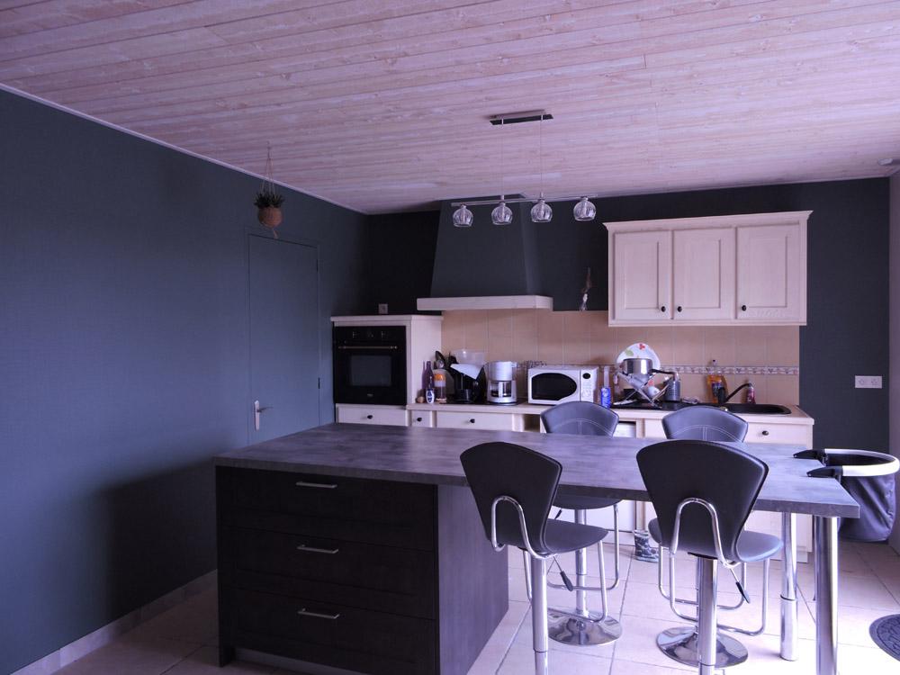 Peinture murs bleu nuit - Peintre Atelier Pro Peinture à Pouillé